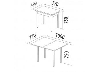 Раздвижной обеденный стол Орфей 8 дуб сонома