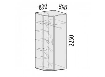 Угловой шкаф для одежды с зеркалом Соната 98.09 левый