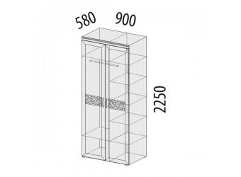 Двухстворчатый шкаф для одежды Тиффани 93.13 многофункциональный