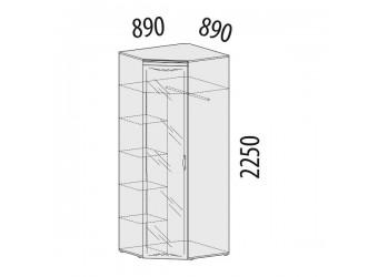 Угловой шкаф для одежды с зеркалом Тиффани 93.09 левый
