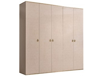 Пятистворчатый шкаф для одежды Rimini РМШ2/5 (латте)