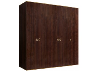 Пятистворчатый шкаф для одежды Rimini РМШ2/5 (орех орегон)