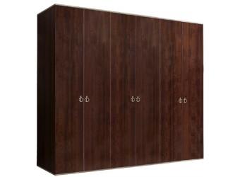 Шестистворчатый шкаф для одежды  Rimini РМШ2/6 (орех орегон)