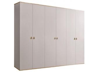 Шестистворчатый шкаф для одежды  Rimini РМШ2/6 (слоновая кость)