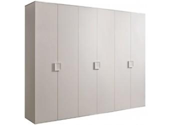 Шестистворчатый шкаф для одежды Diora ДШ2/6 (слоновая кость)