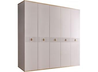 Пятистворчатый шкаф для одежды Rimini Solo РМШ2/5 (s) (слоновая кость)
