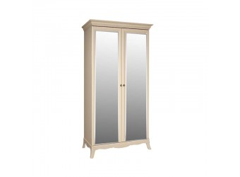 Двухстворчатый шкаф для одежды с зеркалом Амели АМШ1/2 (штрих-лак)