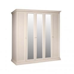 Пятистворчатый шкаф для одежды с зеркалом Амели АМШ1/5 (штрих-лак)