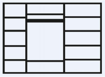 Пятистворчатый шкаф для одежды с зеркалом Анна АНШ1/5 с шелкографией
