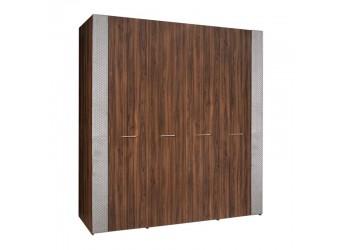 Четырехстворчатый шкаф для одежды Челси Элеганс ЧШ2/4(Э) (орех, серый)
