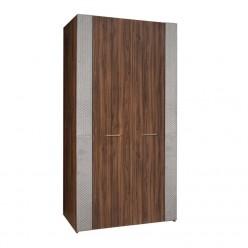 Двухстворчатый шкаф для одежды Челси Элеганс ЧШ2/2(Э) (орех, серый)