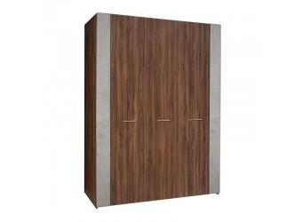 Трехстворчатый шкаф для одежды Челси Элеганс ЧШ2/3(Э) (орех, серый)