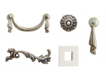 Гостиная Тиффани Премиум (слоновая кость, серебро)