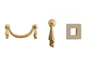 Тумба-витрина для посуды Тиффани Премиум ТФП-3(П) (капучино, золото)
