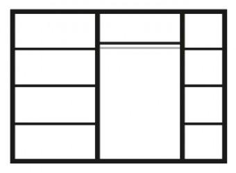 Пятистворчатый шкаф для одежды Карина-3 К3Ш2/5 с шелкографией (орех)