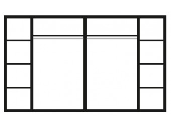 Шестистворчатый шкаф для одежды Карина-3 К3Ш2/6 с шелкографией (бежевый)