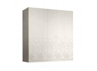Пятистворчатый шкаф для одежды Роза Р1Ш2/5 (слоновая кость)