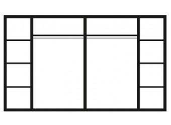 Шестистворчатый шкаф для одежды с зеркалом Роза Р1Ш1/6 (слоновая кость)