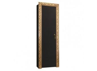 Шкаф-пенал для одежды Тиффани Премиум ТФП-1(П) (черный, золото)