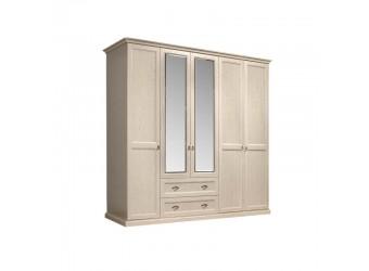 Пятистворчатый шкаф для одежды с зеркалом Венеция ВНШ1/51 (дуб седан)