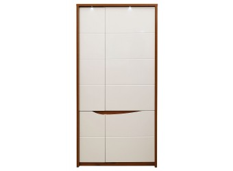 Двухстворчатый шкаф Монако П 510.13-1 с подсветкой (дуб саттер/белый глянец)