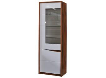 Шкаф-витрина Монако П 510.01 (дуб саттер/белый глянец)